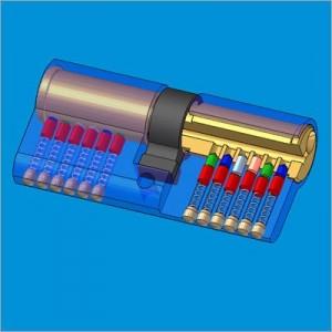 Cấu tạo trong của một lõi chìa - cylinder của bộ khóa cửa